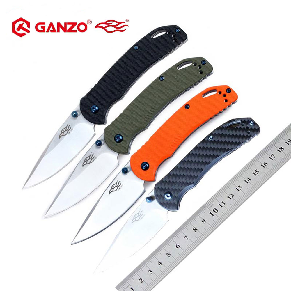 58-60HRC Ganzo F753M1 440C G10 Or Carbon Fiber Handle Folding Knife Survival Camping Tool Pocket Knife Tactical Edc Outdoor Tool