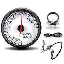 60mm corrida calibre de ar relação combustível display ponteiro com bitola pod narrowband o2 sensor oxigênio 0258006028 para 12v carro calibre