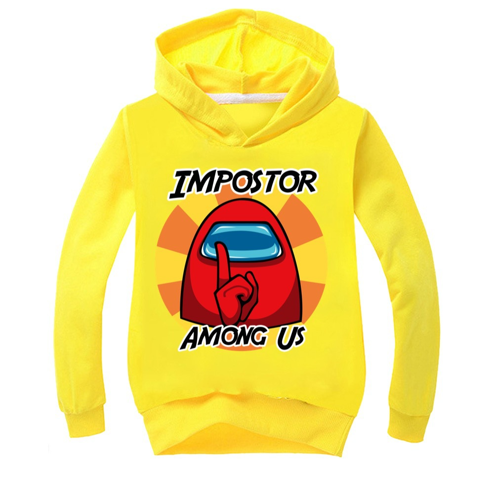 Halloween Clothes Girls Impostor Among Us Crewmate Toddler Girl Fall Clothes 2020 Boy Hooded Boutique Kids Clothing Baby Tops 5