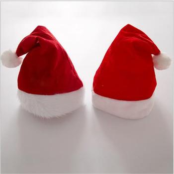 2021 złota aksamit czapki bożonarodzeniowe dla dorosłych czapki bożonarodzeniowe miód aksamitne futro ramką czapki pluszowe boże narodzenie czapki bożonarodzeniowe czapki świętego mikołaja tanie i dobre opinie Gładkie barwione Zwykły 100 bawełna