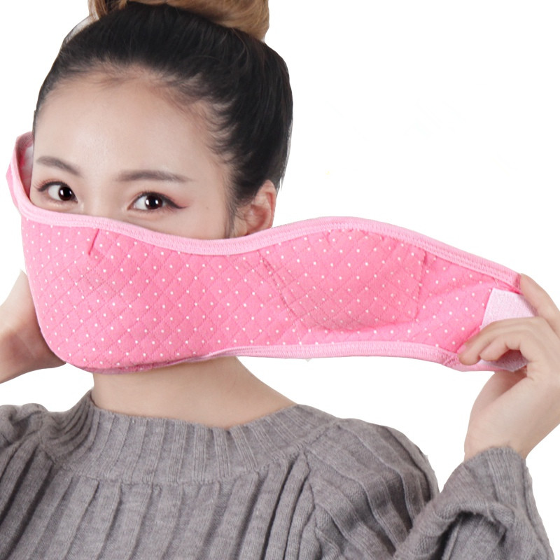Women Men Cotton Half Face Mask Cover Face Hood Mandible Outdoor Winter Neck Guard Scarf Warm Mask AD0669