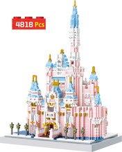 4818 pçs rosa fantasia castelo mundialmente famosa arquitetura diamante blocos de construção casa brinquedo para crianças natal presente aniversário