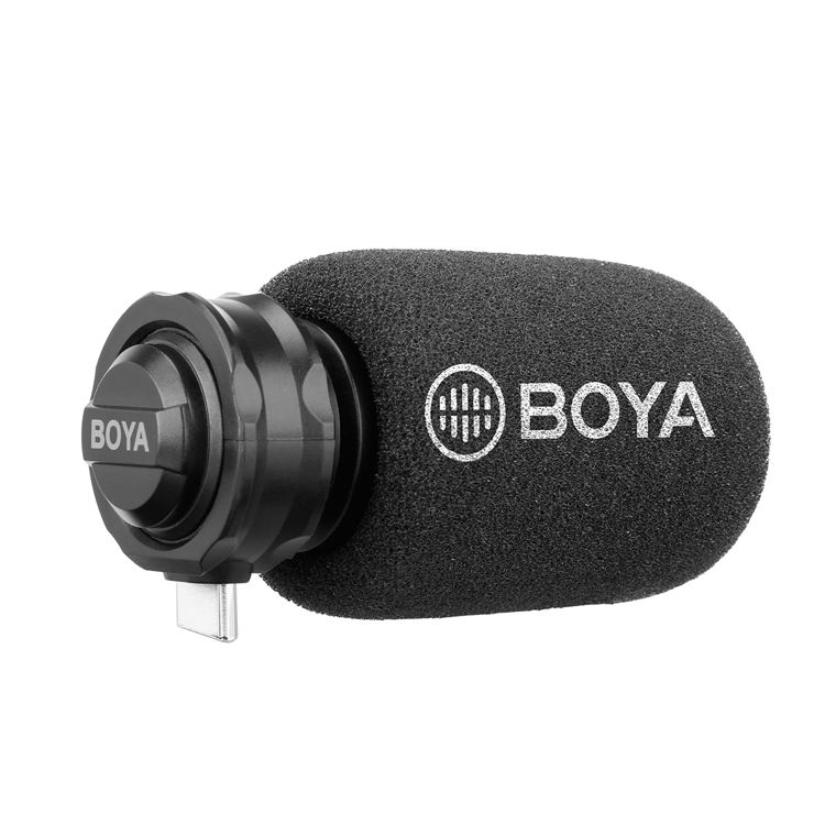 BOYA BY-DM100 Digital Stereo Phone Microphone Condenser Android Record Microphone with Type-C Port for Recording Interview Live