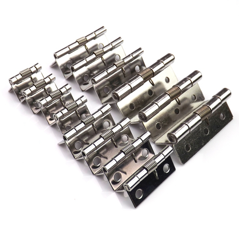 2pc Stainless spring steel Butt Hinge visagras abatible for cabinet wardrobe automatic door Furniture fittings hardware bisagras