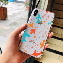 Soft Silicone Luxury Phone Case For Iphone 8 7 Plus 6 6S Travel World Map Plane TPU X Xs Cover