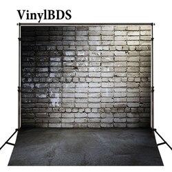 VinylBDS tło noworodka szara ściana z cegły tła fotografia ciemne światło czarnej podłodze tła na sesja zdjęciowa