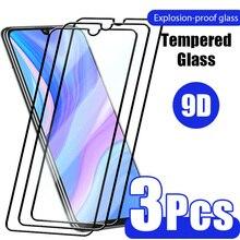 Стеклянное стекло для Huawei P30 Lite P40 P20 Pro 9D, закаленное стекло для Huawei Mate 20 Lite Nova 5T 30 10 P Smart 2019 Z, 3 шт.