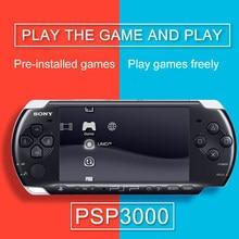 PSP orijinal reformado PSP para PSP 3000 PSP-3000 juego consola 16 GB 32GB 64GB 128GB de tarjeta de memoria negro consola de jue