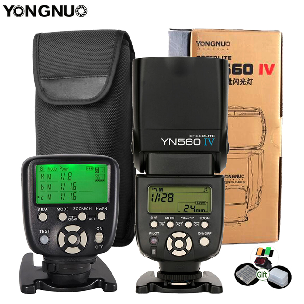 Yongnuo YN560IV Speedlite 2.4G Wireless Radio Master Slave Flash YN560 IV for DSLR Camera Canon Nikon Sony Pentax Olympus Fuji