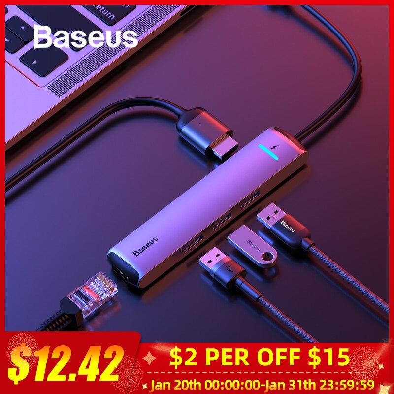 Baseus USB HUB 3.0 USB C HUB for MacBook Pro USB Type C HUB RJ45 HDMI Card Reader Adapter HUB USB Splitter Computer Accessories