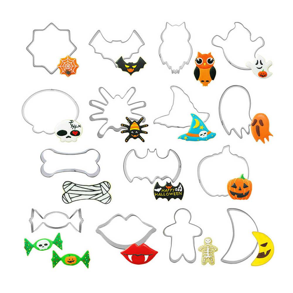 15pcs 2020 Halloween Cookie Cutter Set of Pumpkin, Frightened Cat, Ghost,Cat Face, Bat, Tombstone Baking Cookies Press Cutter|Cookie Tools| - AliExpress
