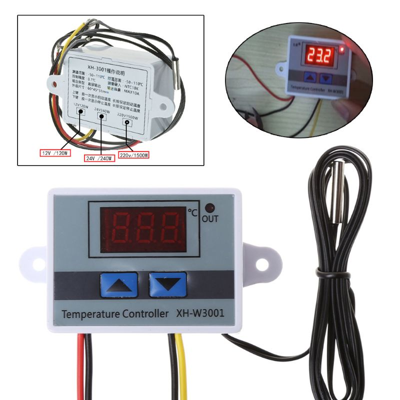 Pet Reptile Thermostat High-precision Temperature Switch Microcomputer Digital Display Hatching Controller 0.1 Degrees