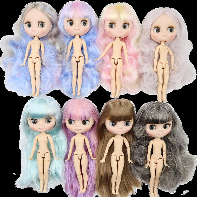 Middie blyth poupée nue 20cm corps commun visage givré avec maquillage yeux gris cheveux doux nouvelles promos bricolage jouets cadeau avec gestes