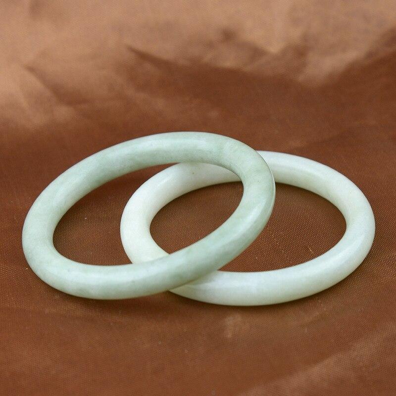Naturalny jadeit kolor ręcznie rzeźbiony okrągły bransoletka z żadu butik mody biżuteria damska jasnozielony pływający kwiat bransoletka z żadu