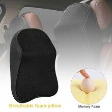 Pillow Cushion Headrest-Pad Car-Seat Head-Neck Memory-Foam Adjustable 3D Black 1pcs