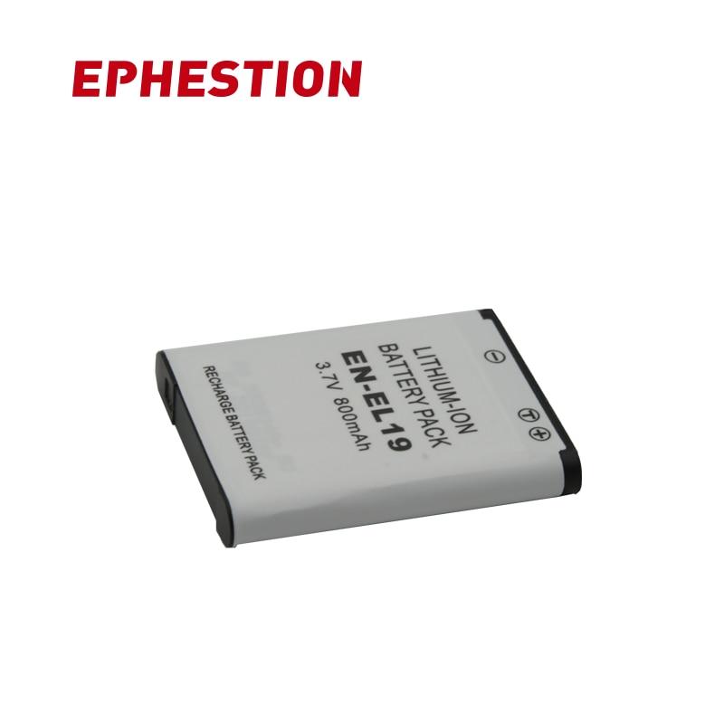 EPHESTION ENEL19 EN-EL19 Battery For Nikon Coolpix S32 S33 S100 S2500 S2750 S3100 S3200 S3300 S3400 S3500 S4100 S4150 S4200