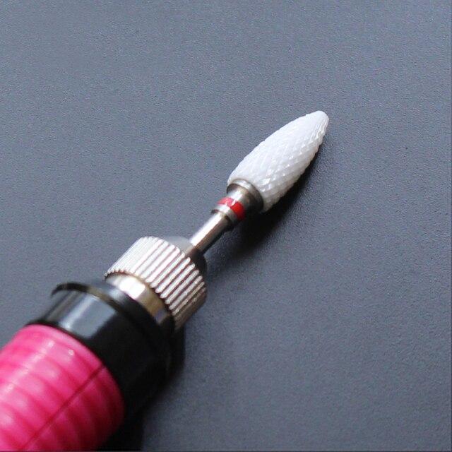 Ceramic Nozzle Nail Art Drill Bit Mill Cutter For Nail Electric Drill Manicure Machine Device Accessory Remove Acrylic polish 5