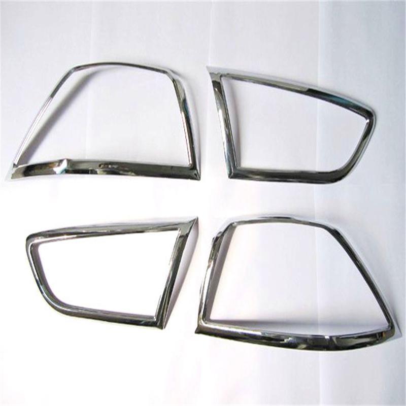 حلية ABS خلفية من الكروم غطاء المصباح الأمامي ، وحرية الملاحة لميتسوبيشي لانسر/لانسر X/لانسر Evo 2010-2013