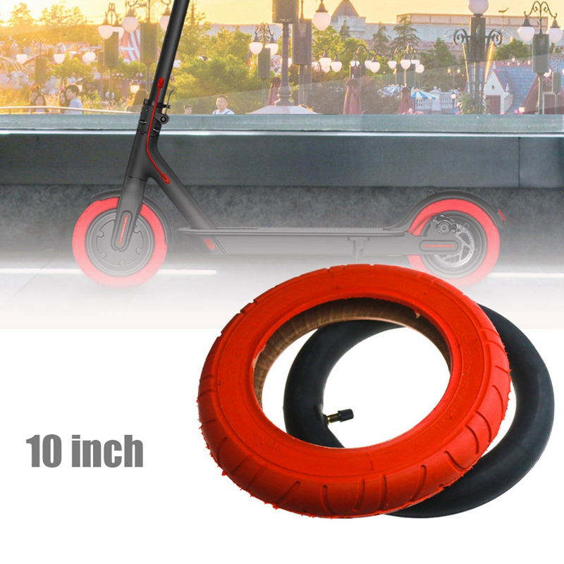 2 Pcs for XiaoMi Mijia M365 Pro 10 Inch Electric Scooter Tire 10 x 2 Inflatable Solid Tire Inner Tube for Wanda Tires|Tires| |  - title=