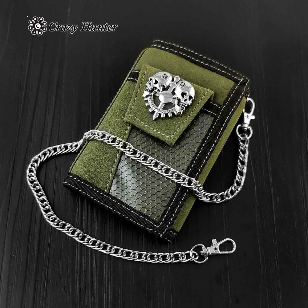 Men/Boy Camouflage Cavans Trifold Card Holder Wallet With Safe Chain