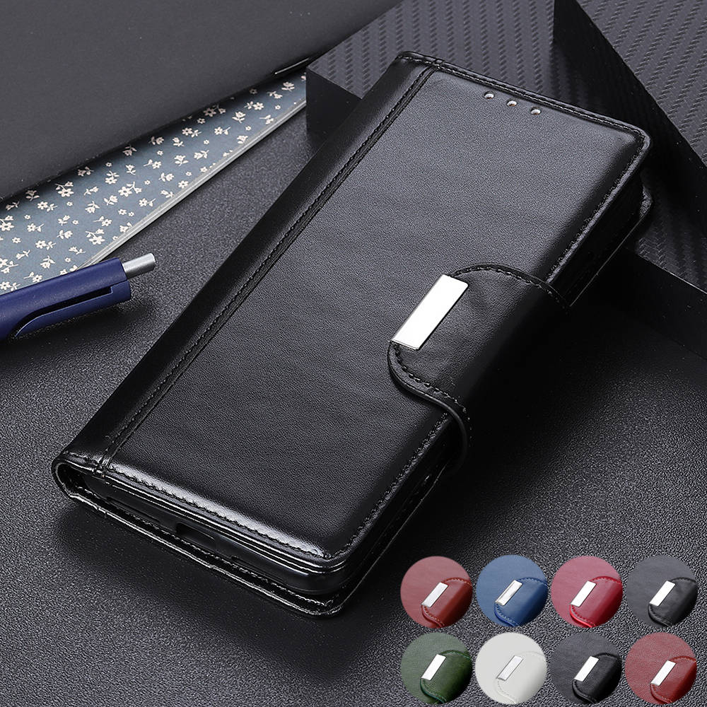 Leather Flip case For Oppo A5 A9 2020 A3 A3S A57 A5S A73S A11X A1K AX5 AX5S F11 AX7 F9 Pro Caso Magnetic Wallet Phone Case Cover image