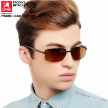 LECAGE Polarized Sunglasses Men Retro Fashion Driver Driving Sunglasses HD polarized anti-uv trendy anti uv fashion street snap unisex tea colored trendsetter sunglasses