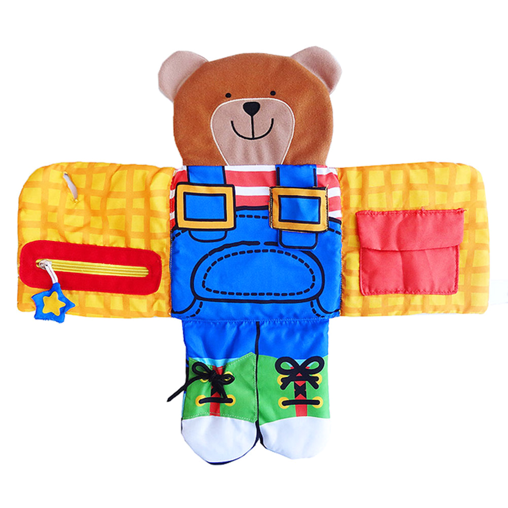 Baby Bear 3D Cloth Book Learn To Dress Book Zip Snap Button Buckle Lace And Tie Learning Basic Life Skills Toy For Baby Gift #20