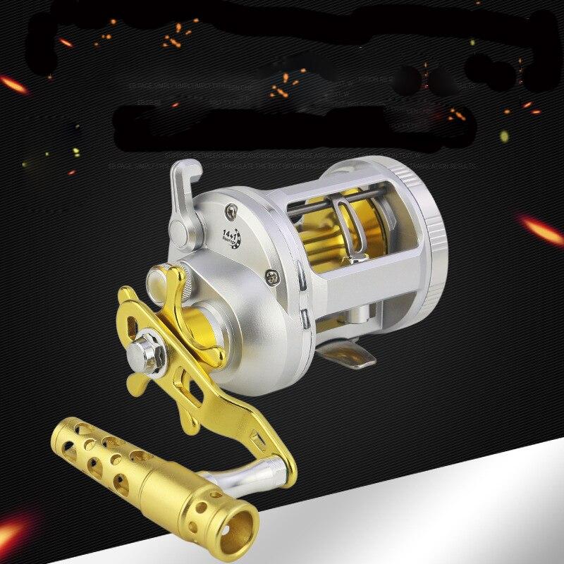 1000-4000 Series Trolling Reels 14+1BB Metal Handle Conventional Jigging Big Game Fishing Reel for Saltwater Sea Fishing