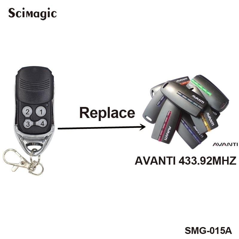 AVANTI Compatible Garage Door Remote Control AVANTI 433.92MHz Rolling Code Handheld Transmitter