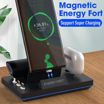 2020 New 11th Gen 3 in 1 40W Magnetic Fast Charging Dock ENERGY FORT For iPhone Samsung Huawei 3A 5A Magnet Quick Charge charger