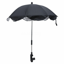 Clip Sun Shade Baby Stroller Umbrella Wheelchair Parasol Adjustable Flexible Arm Detachable Steel Structure Manual Open Outdoor
