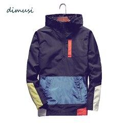 DIMUSI, мужские куртки-бомберы, модные, мужские, Анорак, уличная одежда с капюшоном в стиле хип-хоп, пальто, мужские, повседневные, бейсбольная ф...