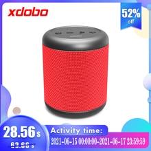 XDOBO 미니 휴대용 무선 블루투스 TWS 스피커, 방수 IPX6 음성 도우미 45m 연결 거리 12 시간 재생 시간