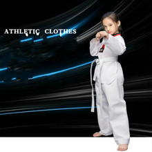 Profession White Taekwondo Brand New Product Adult child kids Breathable cotton uniform Approved clothes C