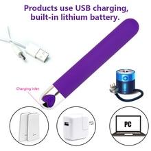 Good Healthy USB Rechargeable Mini Bullet Vibrator 10 Speed Waterproof Clitoris Stimulator