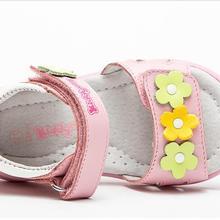 Модные летние ортопедические сандалии из натуральной кожи для девочек, 1 пара детская обувь с нескользящей подошвой и внутренним каблуком 16,5-19,7 см детская мягкая обувь