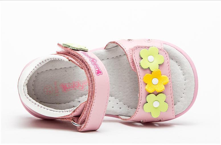 Fashion 1pair Summer  Genuine Leather Orthopedic Girl Sandals Antiskid Children Shoes+inner 16.5-19.7cm, Kids Soft Shoes