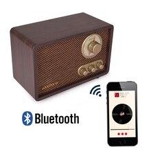 Altavoz de sobremesa con Bluetooth LoopTone AM/FM Hi-Fi Vintage clásico con Radio fuerte incorporado y Control de agudos y bajos hecho a mano de madera