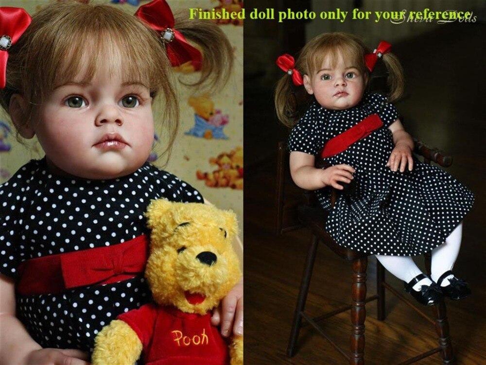 "28"" reborn toddler doll kit simulation silicone vinyl reborn baby doll kit DIY blank doll kit accessories"