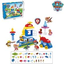 Paw Patrol, набор игрушек, башня, головоломка, сборные строительные блоки с музыкальной игрушкой, автомобиль, мультяшная собака, автомобиль, аниме, фигурка, подарок для детей