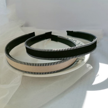 Hairband Hoop Headwear Hair-Accessories Vintage Children Women Wide for 2pc Bezel Beige