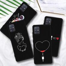 Zachte Vloeibare Siliconen Case Voor Samsung Galaxy A50 Case Voor Samsung A70 A40 A30 A20 A60 S10 Plus S10E A51 a751 Telefoon Case Cover