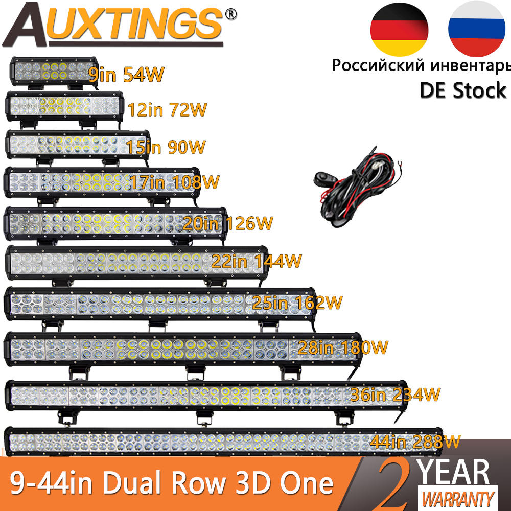 Led-Light Offroad Truck 126W Jeep Auxtings 20inch 24V 12V Combo for Car 4WD SUV ATV Bar-Spot-Flood-Combo