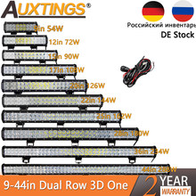Auxtings 12 ''22'' 20Inch 12V 24V Offroad Led Light Bar Spot Banjir Combo 20 ''126W Led Kerja Lampu untuk Mobil Jeep 4WD Truk SUV ATV(China)