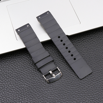 Pin buckle 23mm rubber strap mens for Cartier Santos silicone female SANTOS 100 outdoor sports waterproof bracelet