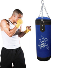 Boxing Training Fitness Blue Sandbag  Punching Bag MMA Sports Training Hook Hanging Kick Empty Boxing Bags with Boxing Ball Gym