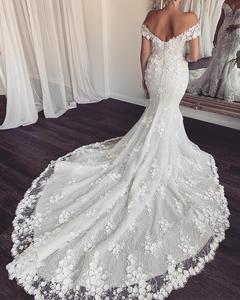 Image 3 - Eslieb 3d flower lace wedding dress 2020 Sexy Mermaid wedding dresses Bridal Dresses