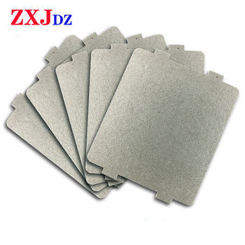 5pcs 9.9cm*10.8cm Spare parts thickening mica Plates microwave ovens sheets for Galanz Midea Panasonic LG etc.. magnetron cap 270mm diameter y shape underside media galanz panasonic microwave glass plate oven turntable genuine original parts