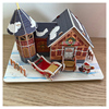 3D Castle Wooden Puzzle Montessori Toys Garden Zoo Princess House Jigsaw Interesting Learning Educational Toys For Children Gift
