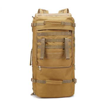 Outdoor Tactical Bag Backpack Mountaineering Bags Sports Backapcks Hiking Camping Sport Bag Double Shoulder Package Rucksack 60L